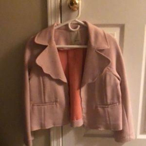Anthropologie pink coat/blazer